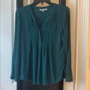 Emerald green women's blouse - good condition
